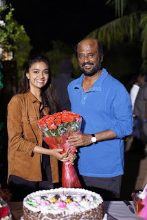 Keerthy Suresh with Rajinikanth Sir Congratulates for 66th National Award Best Actress Mahanati 1