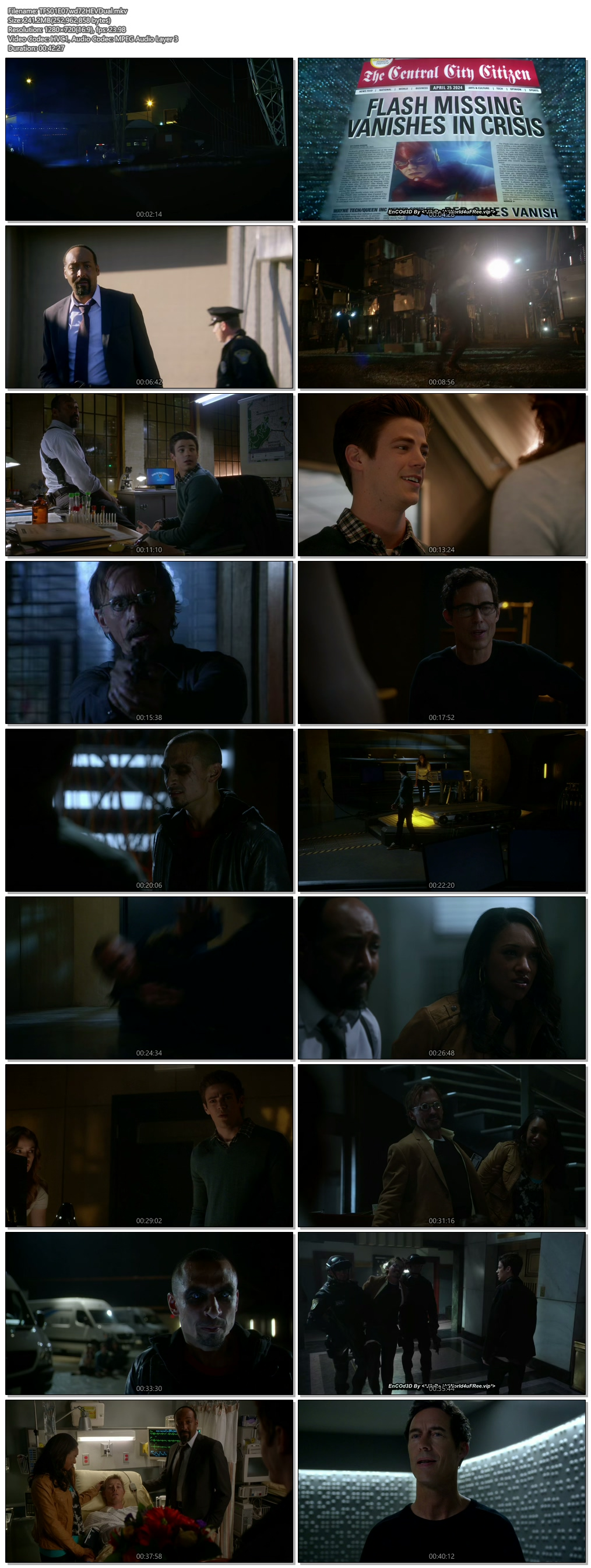 Screenshots Of Hindi Dubbed Show The Flash 2015 Season 01 Episode 07 300MB 720P HD