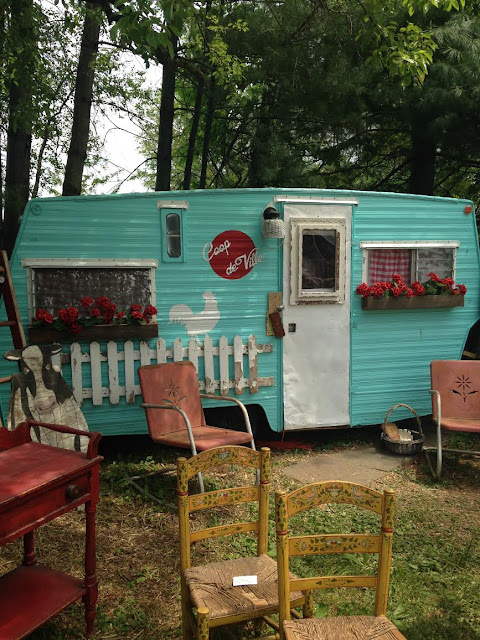 vintage mint travel trailer