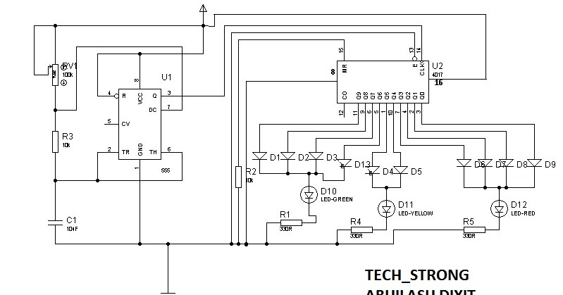 Tech_strong: BASIC ELECTRONICS PROJECT3- TRAFFIC LIGHT PROJECT