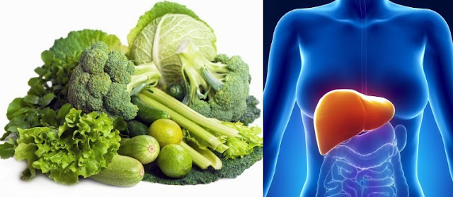 hortalizas de hoja verde para el higado