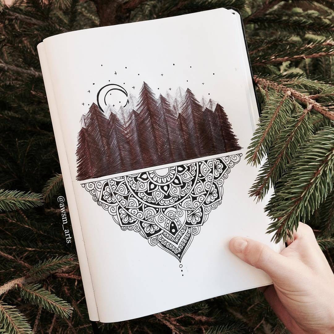 04-Forest-Moleskine-Mandalas-Drawings-and-More-www-designstack-co