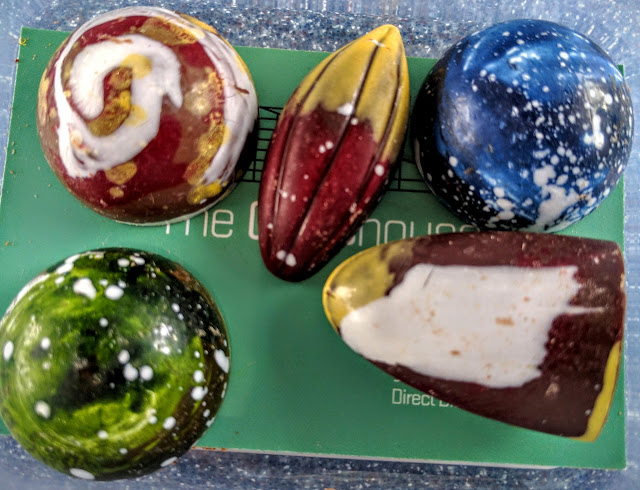 Hand decorated chocolates from the Glasshouse in County Sligo, Ireland