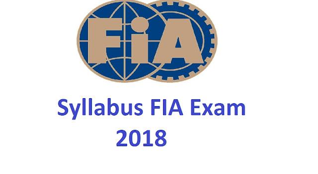 Syllabus of fia sub inspector 2019