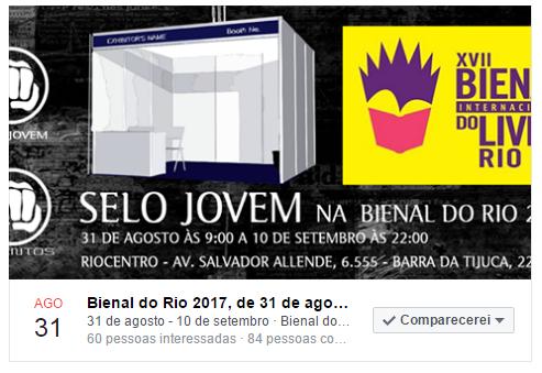 Ed Selo Jovem na Bienal do RJ
