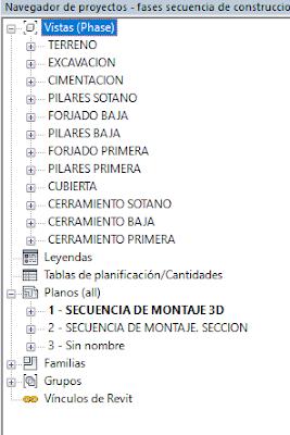 captura de pantalla de un navegador de proyectos