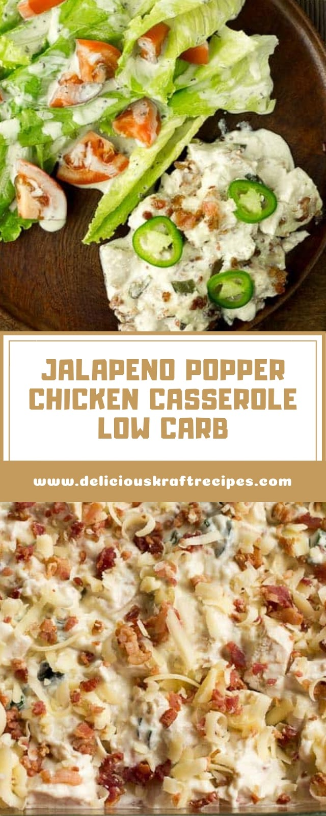 JALAPENO POPPER CHICKEN CASSEROLE LOW CARB