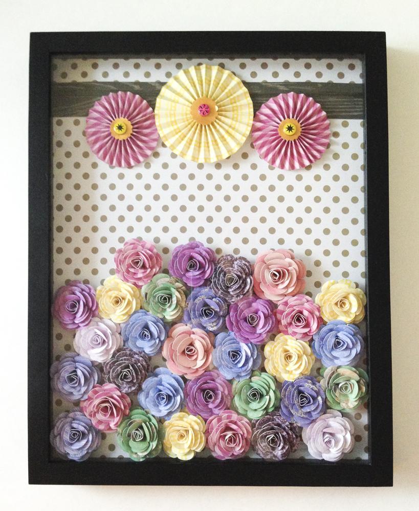 3d paper flower shadow box