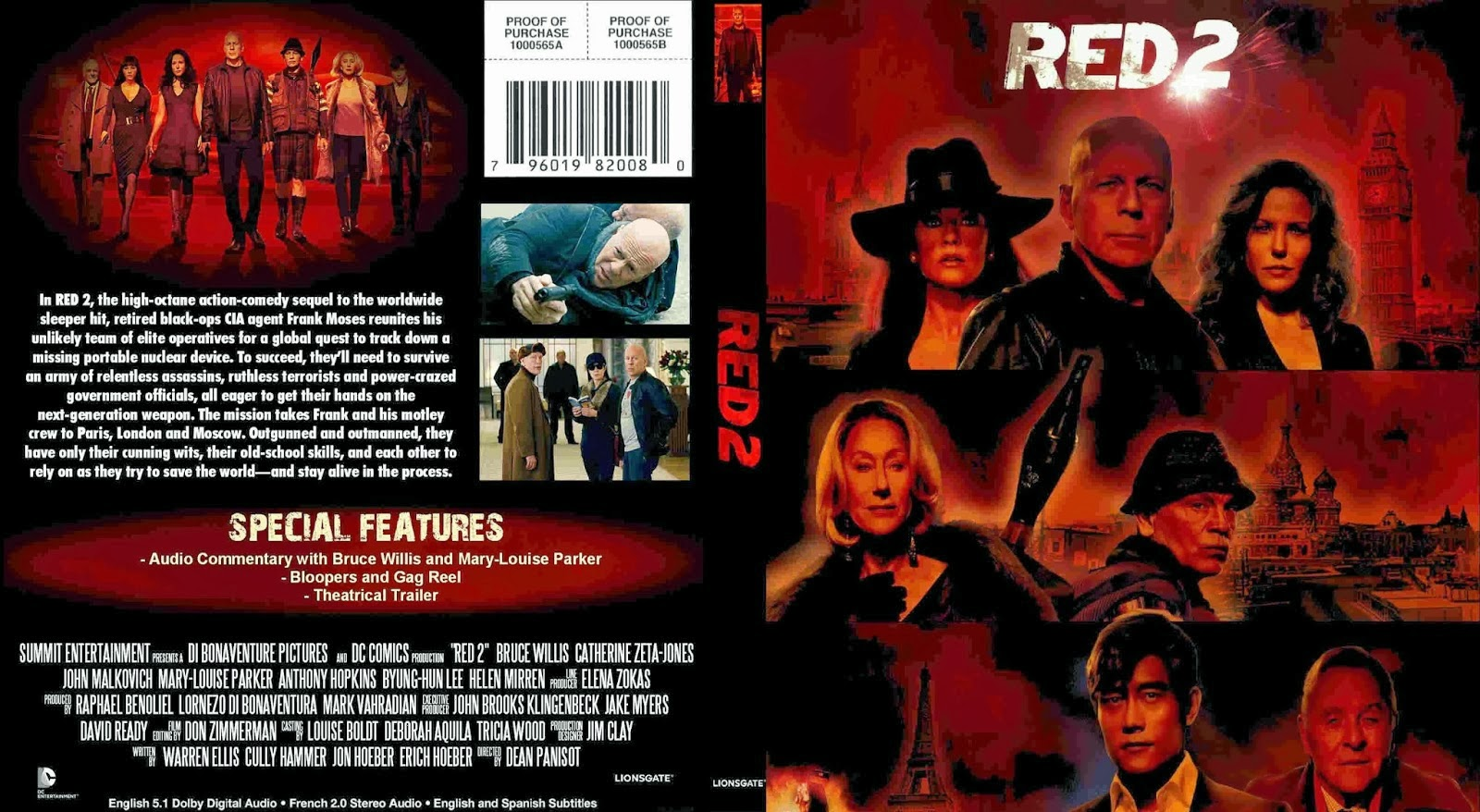 Red 2 Dvd Cover Capa r...