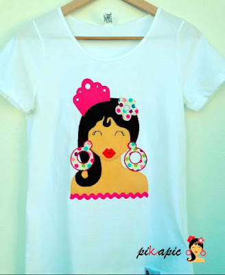Camiseta flamenca Martina. Pikapic