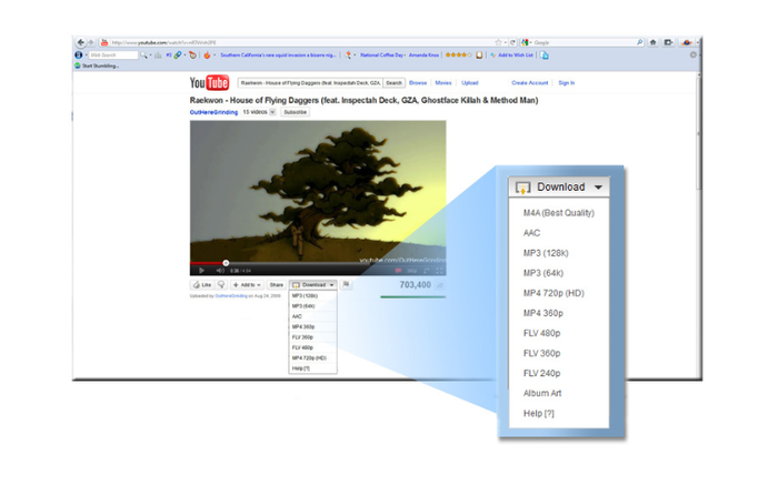 Easy YouTube Video Downloader [ Firefox ADDON ] Screen Shot