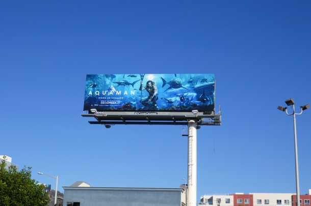 Aquaman film billboard