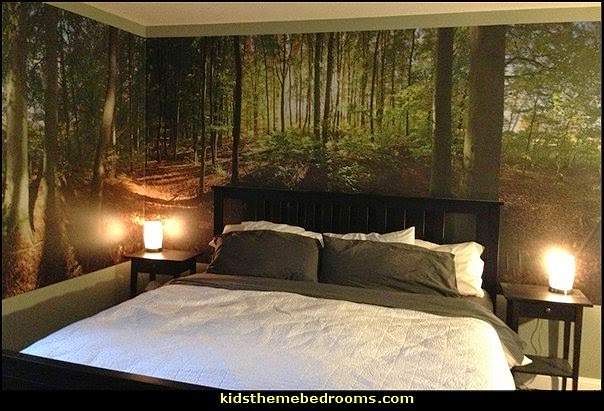 Decorating theme bedrooms maries manor tree murals for Forest themed bedroom ideas