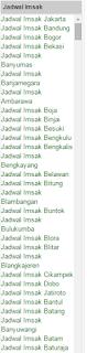 jadwal imsak terlengkap seluruh indonesia