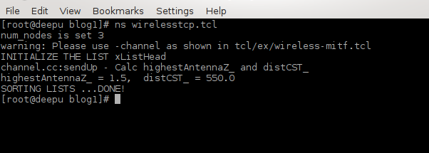 Computing for Beginners: NS2 : Simulating TCP in Wireless