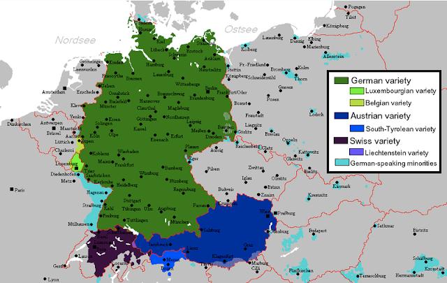 German Language And Dialect Indo European Languages Map