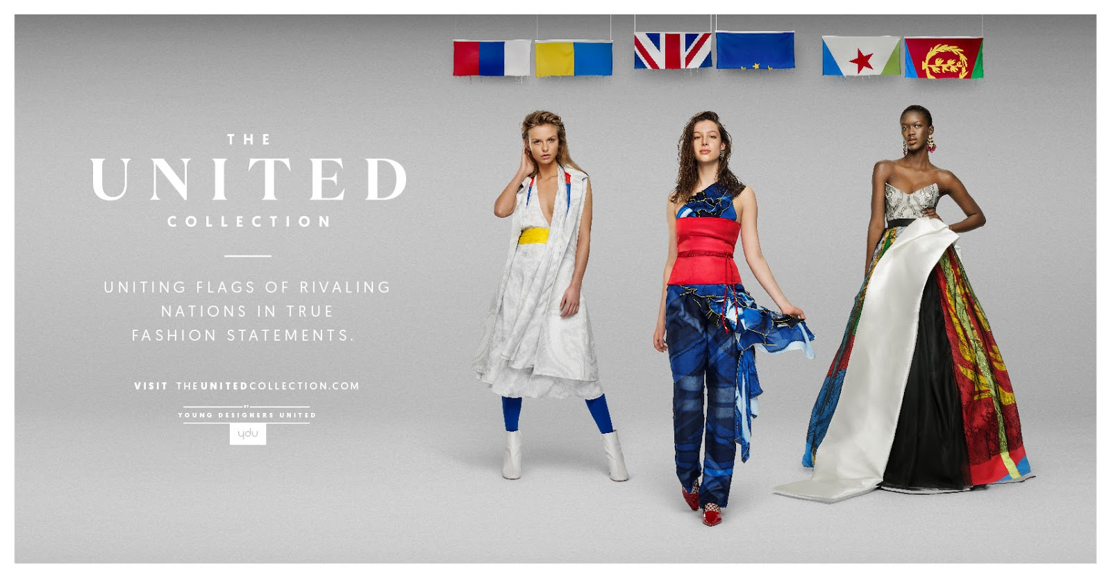 6015a4b5855 Introducing  The United Collection  - Fashion Made from Flags of Opposing  Nations