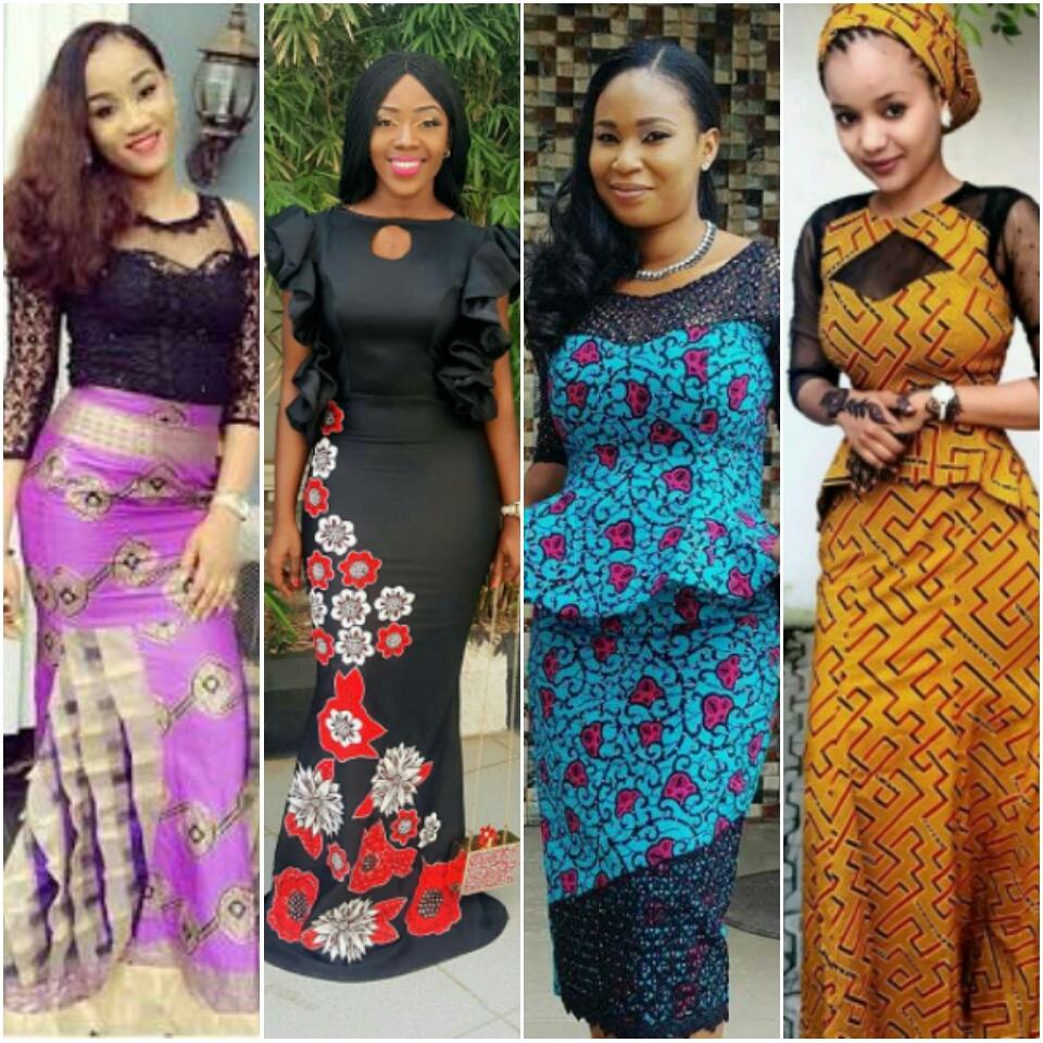 Ankara long dress styles