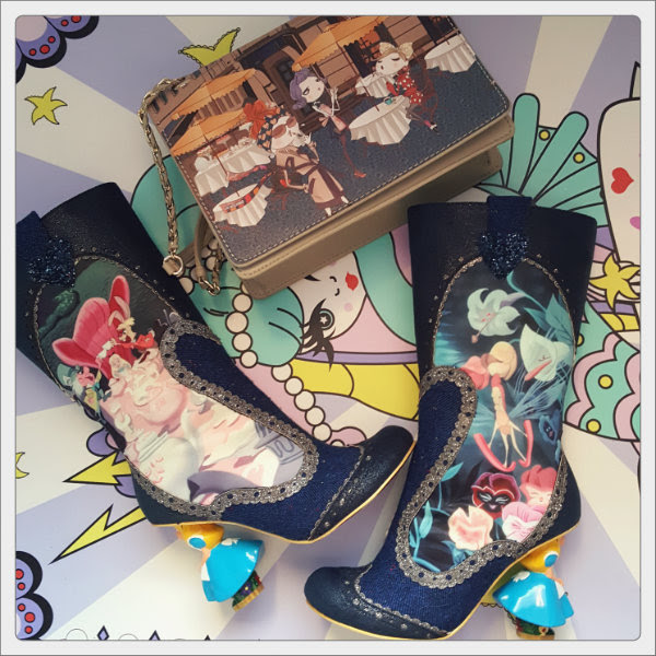 love moschino charming cafe scene handbag and irregular choice lost your muchness boots