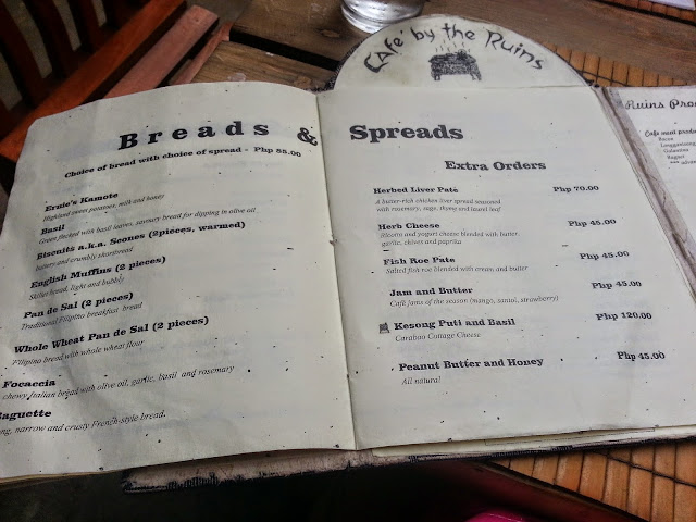 cafe by the ruins menu