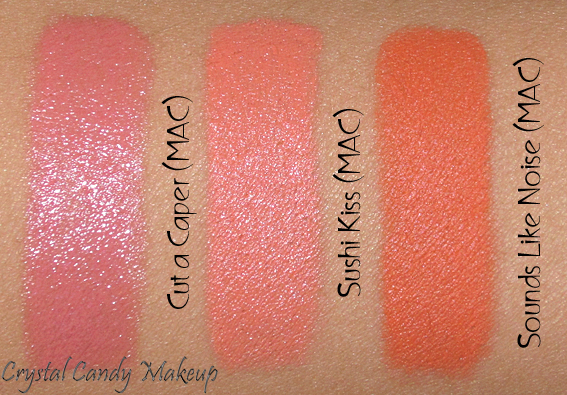 Rouge à lèvres Sushi Kiss de MAC (Collection All About Orange) - Review - Swatch - Cut a Caper - Sounds Like Noise
