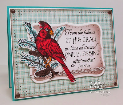 "ODBD ""Sing For Joy"", ""Scripture Series 2"", ODBD ""Cardinal Die"" Card Designer Angie Crockett"