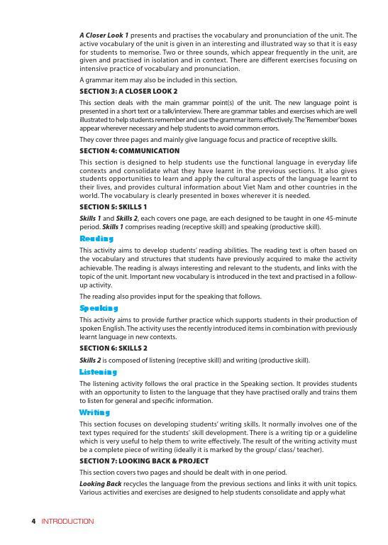 Trang 4 sach Sách Giáo Viên Tiếng Anh 6 Tập 2