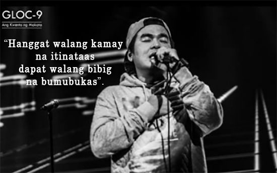 Gloc 9 is not endorsing Jejomar Binay as his presidential bet