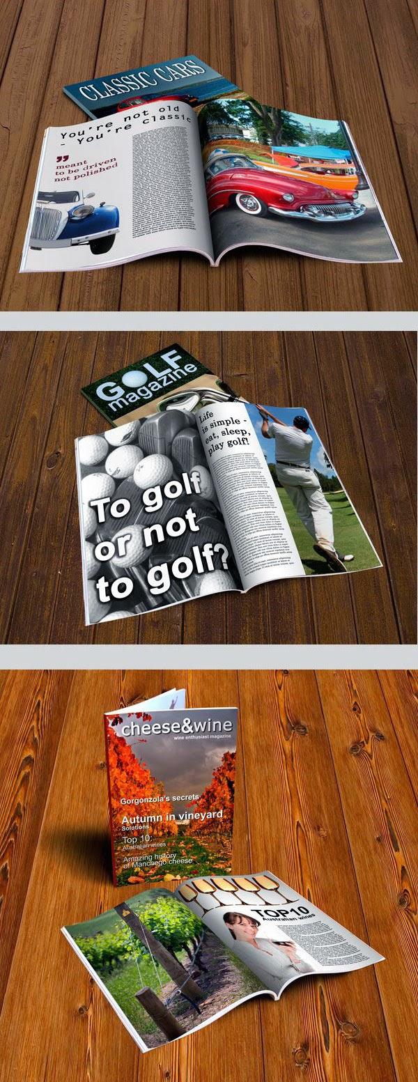 Free Magazine MockUp PSD Templates