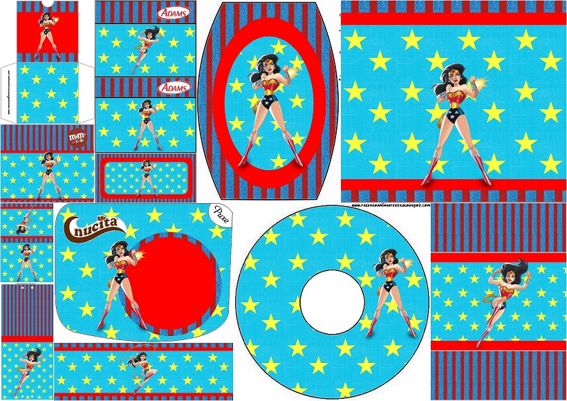 Wonder Woman Free Printable Candy Bar Labels Oh My Fiesta for Geeks