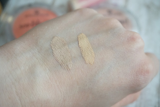 links: Missha BB Cream, rechts: essence Concealer