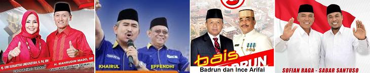 Empat pasang calon Walikota dan wakil Walikota Tarakan 2018