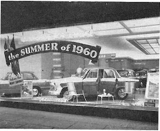 Summer 1960 window display - Mumfords