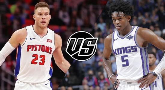 Live Streaming List: Detroit Pistons vs Sacramento Kings 2018-2019 NBA Season