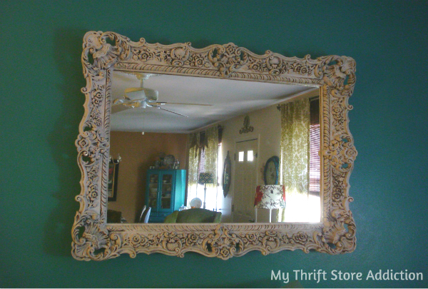 Upcycled thrift store mirror