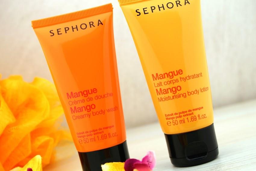 Mes produits coups de cœur de cet été ! summer essentials crème de douche lait corps hydratant à la mangue Sephora