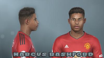PES 2019 Faces Marcus Rashford by Prince Hamiz