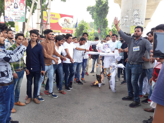 nsui-protest-nehru-college-faridabad