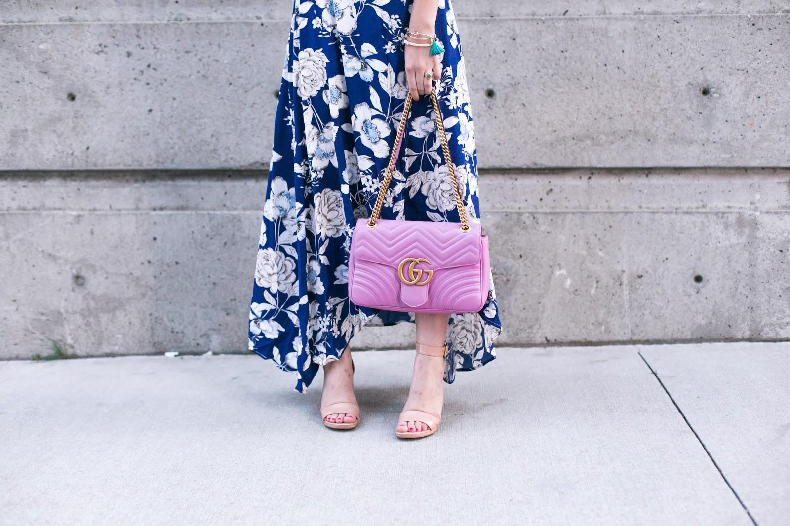 Bijuleni - Gucci Marmont Matelasse pink purse