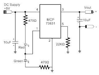 Skema rangkaian Cutoff charger batterai 3,7 Volt