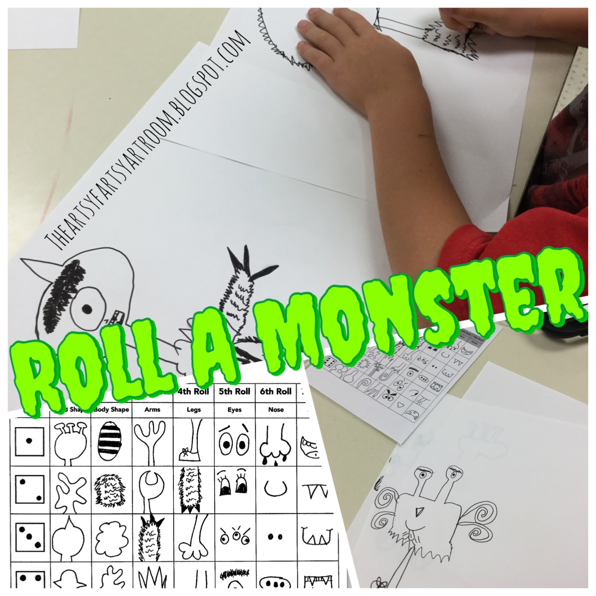 The Artsy Fartsy Art Room Roll A Monster