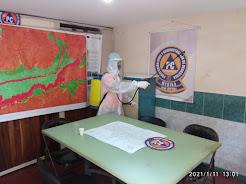 Operativo de desinfección se efectuó en la Alcaldía de Mérida