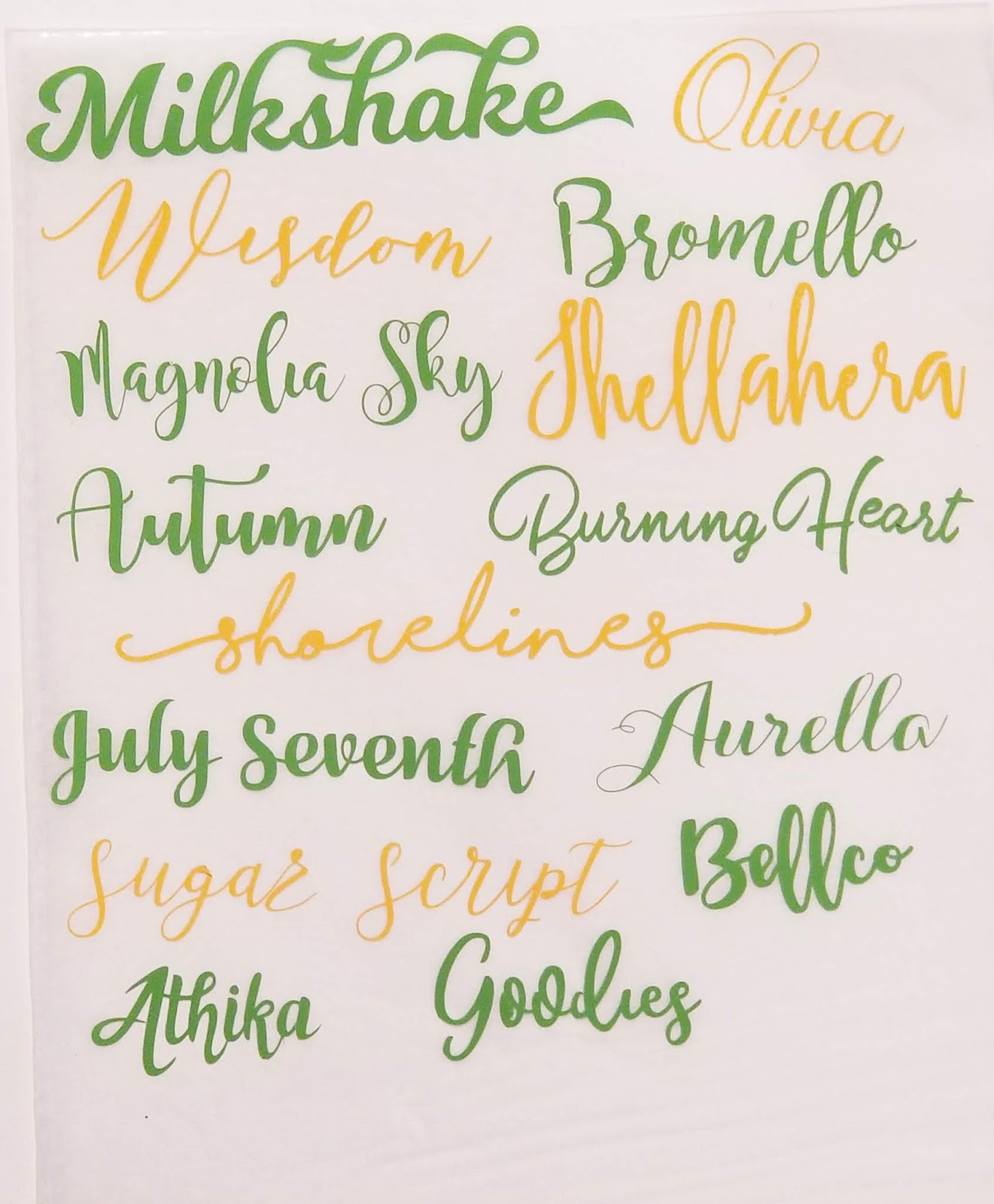Fields Of Heather: My Favorite Tried & True Fonts For Cutting