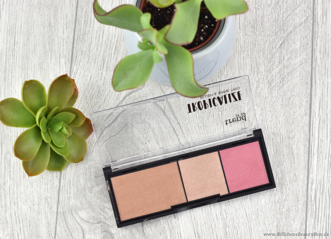 trend IT UP - Tropicalize Limited Edition - Blush & Shine Trio 020 - Review und Swatches