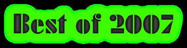 Best of 2007 blog posts