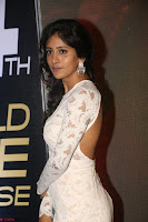 Chandini Chowdary in white Tight dress at Shamanthakamani pre release function ~  Exclusive 026.JPG