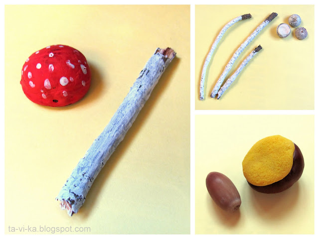 осенние поделки из природных материалов autumn nature craft