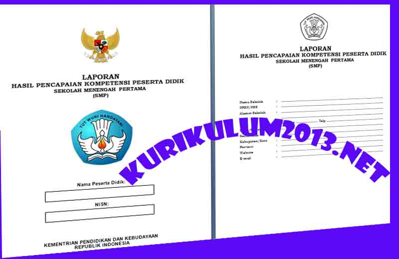 Contoh Format Model Raport Kurikulum 2013 Untuk Smp Mts Terbaru