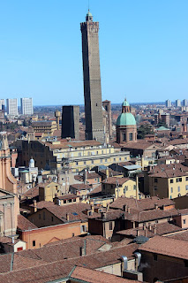 The Due Torri - the Asinelli and Garisenda towers - a feature of the Bologna skyline
