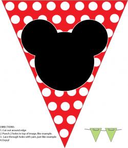 Mini Kit de Mickey y Minnie en Rojo para Imprimir Gratis.